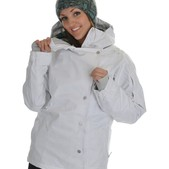 686 Smarty Rogue Snowboard Jacket White Stripe - Women's
