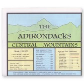 ADIRONDACK Central Mountains Map