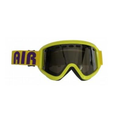 Airblaster Airgoggle Air Logo Snowboard Goggles Yellow/Grey Chrome