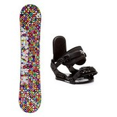 Airwalk Kaleidoscope Stealth Girls Snowboard and Binding Package