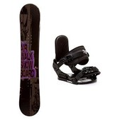 Airwalk Storm Stealth Girls Snowboard and Binding Package