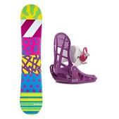 Airwalk The 90s Lil Kat Girls Snowboard and Binding Package