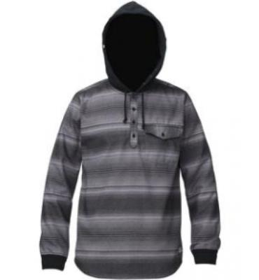 Analog Advent Hooded Flannel (Grey Skies)