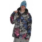 Analog Asset Snowboard Jacket Flora Print Blue