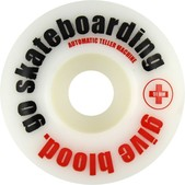 ATM Click Give Blood Skateboard Wheels - 52mm 99a (Set of 4)