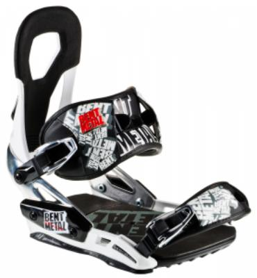 Bent Metal Venom Snowboard Bindings White