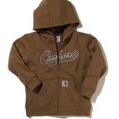Boys' Logo Fleece Zip Front Sweatshirt