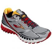 Brooks Ghost 6 Road Running Shoe - Men's - D Width Size 8-D Color Black/Lava/Silver/Citrus