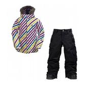 Burton Allure Girl's Puffy Snowboard Jacket & Pant Package