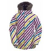 Burton Allure Girl's Puffy Snowboard Jacket Diag Stripe Banana