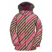 Burton Allure Girl's Puffy Snowboard Jacket Diag Stripe Wild Flwr