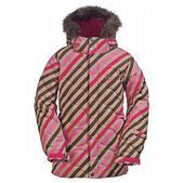 Burton Allure Puffy Snowboard Jacket Diag Stripe Wild Flwr