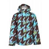 Burton Arctic Snowboard Jacket Mocha Houndstooth Camo Print