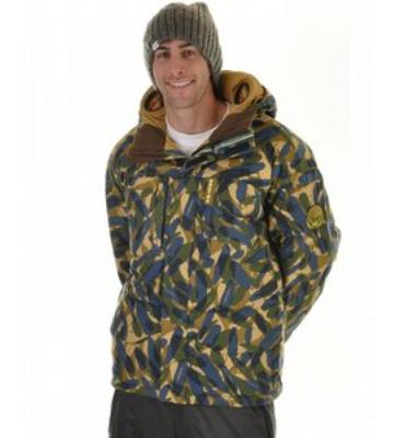Burton Audex Motorola Down Snowboard Jacket Garden State Feather Camo