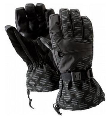 Burton Baker Snowboard Gloves Black Stripe Jacquard