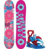 Burton Chicklet Snowboard w/ Burton Grom Bindings