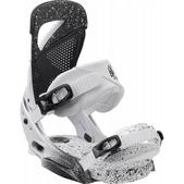 Burton Lexa EST Snowboard Bindings White & Black Speck