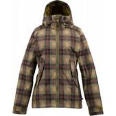 Burton Logan Snowboard Jacket Olive Radiant Plaid