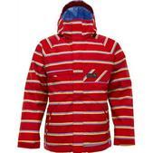 Burton Poacher Snowboard Jacket Cardinal Marcos Stripe