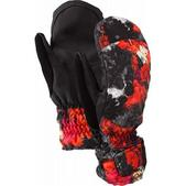 Burton Profile 12 Under Snowboard Mitts Risque Flowers On Crack Print