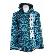 Burton Restricted Booth Team Snowboard Jacket Blue Tiger Print