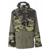 Burton Ronin Transition Snowboard Jacket Olive/Woodland Camo Prt