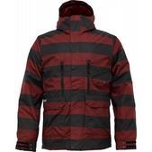 Burton TWC Bit O Heaven Snowboard Jacket Biking Red Sweater Stripe