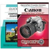 Canon Rebel XT DVD 2 Pack Composition Instructional Manual Bundle