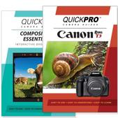 Canon T3 DVD 2 Pack Composition Instructional Manual Bundle