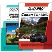 Canon T4i DVD 2 Pack Composition Instructional Manual Bundle