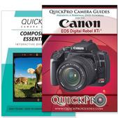 Canon Xti DVD 2 Pack Composition Instructional Manual Bundle