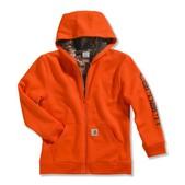 Carhartt Boys' Camo Lined Logo Fleece Sweatshirt