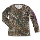 Carhartt Girls' Force Long Sleeve Camo Top