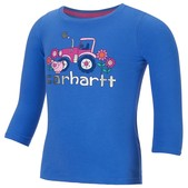Carhartt Infant and Toddler Girls' Little Pink Tractor Tee