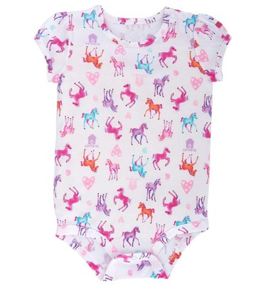 Carhartt Infant Girls' Watercolor Horse Printed Bodyshirt