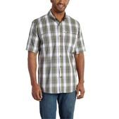 Carhartt Men's Force Mandan Plaid Button Down Short Sleeve Shirt