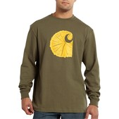 Carhartt Men's Graphic Tree Stump Long-Sleeve T-Shirt - Discontinued Pricing