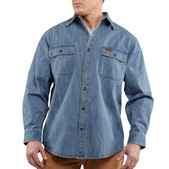 Carhartt Men's Washed Denim Work Shirt