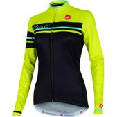 Castelli Girone FZ Long Sleeve Cycling Jersey - Women's Size M Color Black/Sulphur
