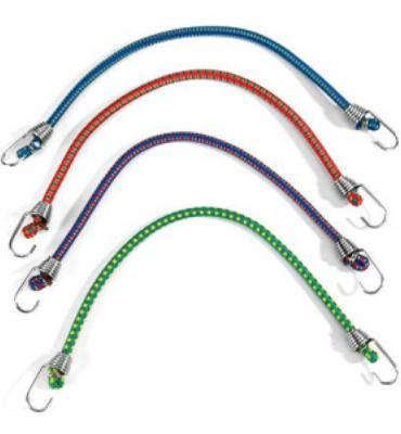 Coghlan's 5mm Mini Stretch Cords with Hooks - Package of 4