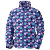 Columbia Girl`s Infant Benton Springs Printed Fleece Jacket (PURPLE LOTUS, 6/12)