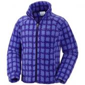 Columbia Girl`s Youth Benton Springs Printed Fleec Jacket (HYPER PURPLE, 2XS)