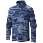 Columbia Men's Klamath Range Printed Half Zip Sweater Gray