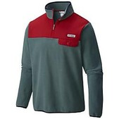 Columbia Mens Mens Harborside Overlay Fleece Pullover Jacket - Sale