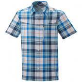 Columbia Mens Silver Ridge Plaid Short Sleeve Shirt (WHITE LARGE PLAID, L)