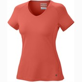 Columbia Sportswear Total Zero Short Sleeve V-Neck Top for Women