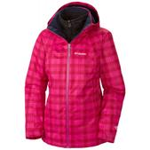 Columbia Whirlibird Ski Jacket Deep Blush Plaid Print