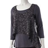Comfy USA Women's Crop Vest Sweater Knit