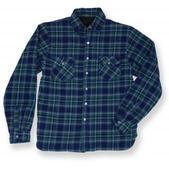 Core Concepts Men's St. Joe Quilted Plaid Shirt Verdant Green M
