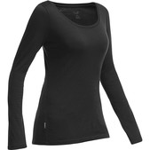 Crush Long Sleeve Scoop Top Womens